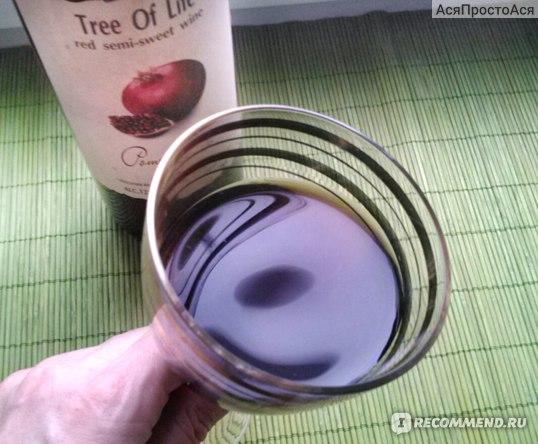 Вино красное полусладкое Tree of Life  Гранатовое фото
