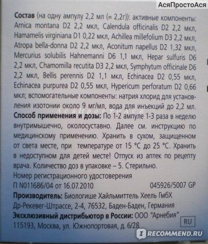 tratamentul cu schema de artroză traumeel)