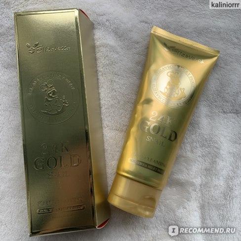 Пенка для умывания Elizavecca 24K Gold Snail Cleansing Foam фото