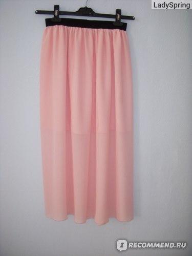 Юбка Ebay Pink Women Lady Graceful Elastic Waist Dress Chiffon Long Maxi Skirt Summer фото
