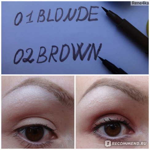 Фломастер для бровей Relouis / Релуи Brow Permanent Marker фото
