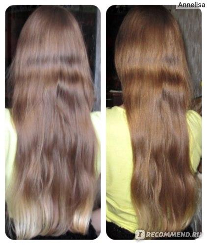 Слева волосы сфотографированы без вспышки, справа со вспышкой.