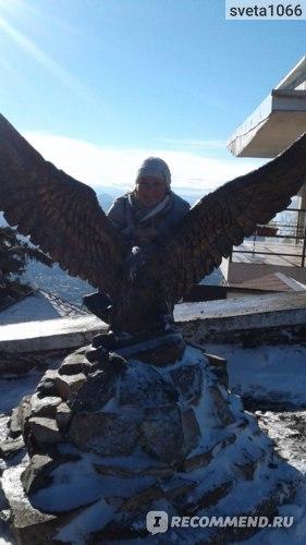 Скульптура орла на горе Машук