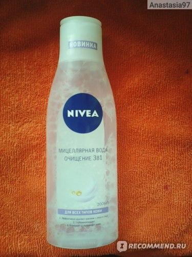 Мицеллярная вода NIVEA Очищение 3 в 1 фото
