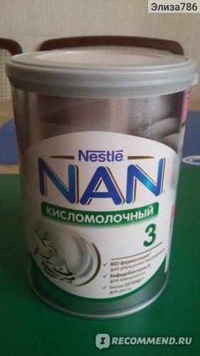 Детская молочная смесь Nestle NAN 3 Кисломолочный (с 12 месяцев) фото