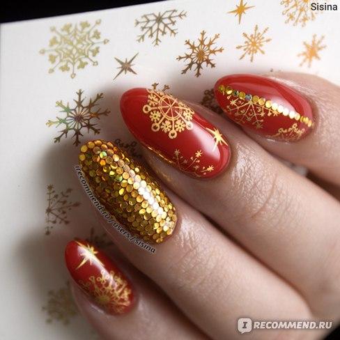 Дизайн ногтей на гель-лаке: слайдеры + Glitter Placement