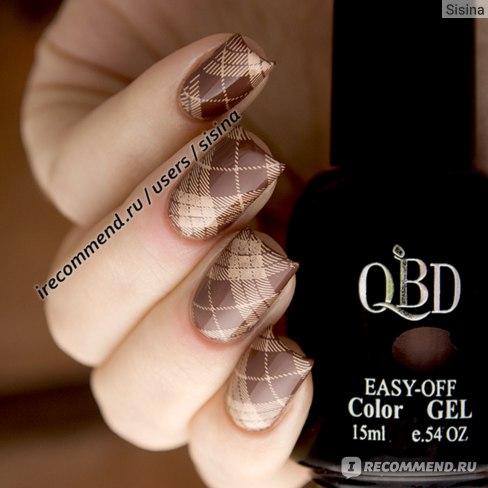 Гель-лак для ногтей QBD Easy-Off black package фото