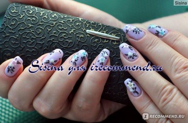дизайн ногтей на гель-лаке с использованием 3D наклеек