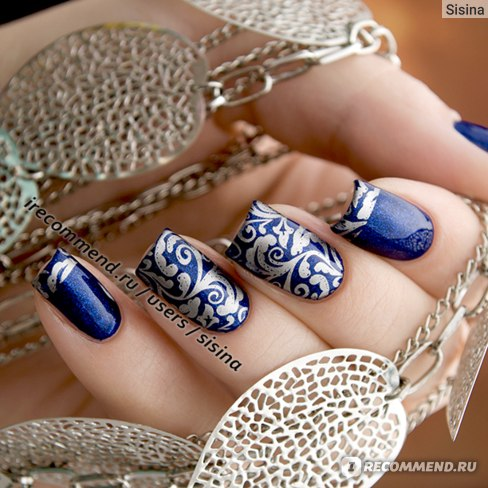 Дизайн ногтей на гель-лаке: стемпинг