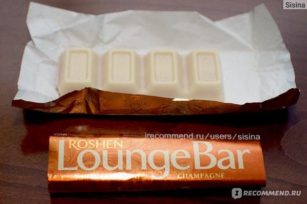 """Белый шоколад ROSHEN LoungeBar с начинкой """"Трюфель-шампанское"""" фото"""