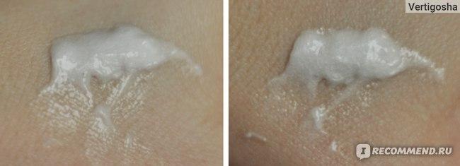 Консистенция крема на руке