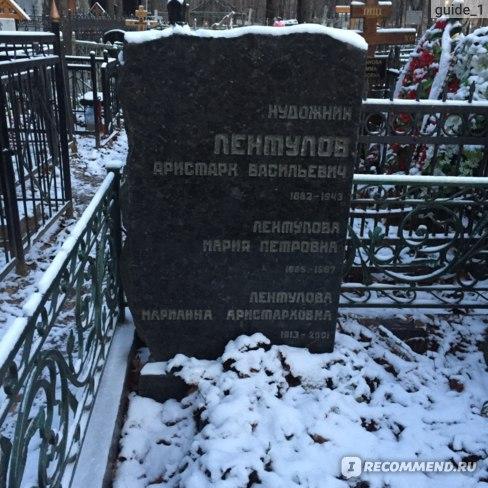 Могила А.В.Лентулова