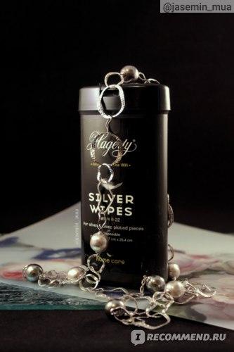Салфетки для экспресс-чистки ювелирных изделий Hagerty Jewelry wipes