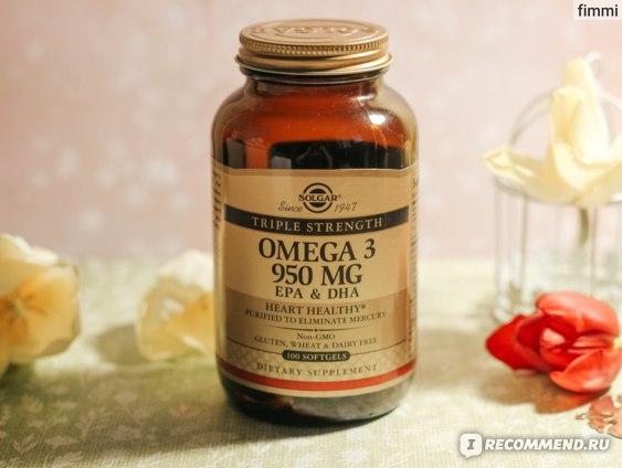 Витамины Solgar OMEGA-3 ЭПК и ДГК, Тройная сила 950 мг фото