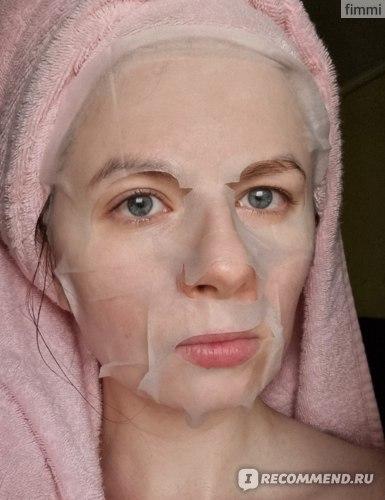 Тканевая маска для лица  Dermal с экстрактом шпината фото