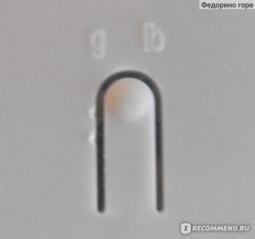 Кнопка переключения единицы измерения массы (граммы - фунты)