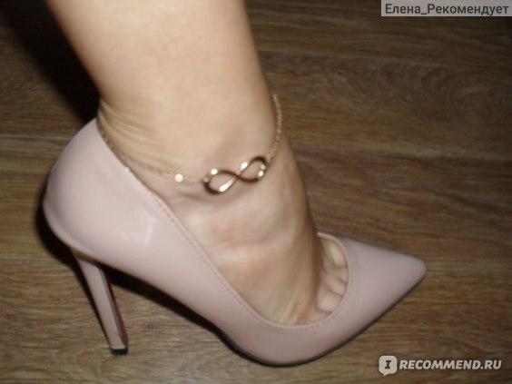 Браслет на ногу Aliexpress Simple Gold Alloy 8 Shape Design Foot Feet Ankle Chain Anklet Bracelet Women Girl Charm Jewelry Enkelbandje фото