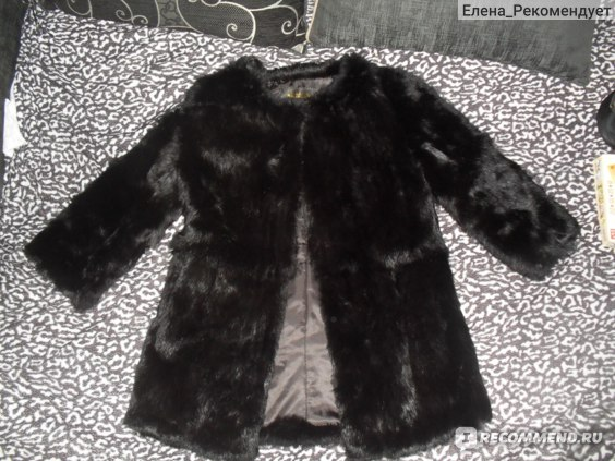 Шуба AliExpress leather coat Rabbit real fur splicing real real fur coat can new paragraph round collar ladies grows in spring 2013 фото
