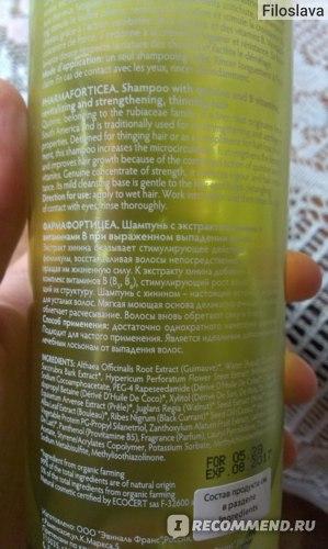 Шампунь Green Pharma Грин Фарма Pharma Forticea Фармафортицеа с экстрактом хинина и витаминами В при выраженном выпадении волос фото