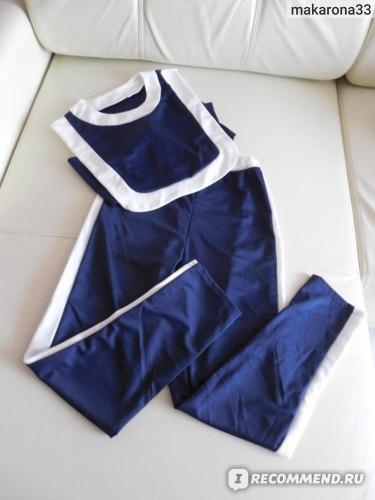 Спортивный костюм AliExpress Women Sportswear Workout Tracksuit Fitness Gym Tank Top & Long Pants new фото