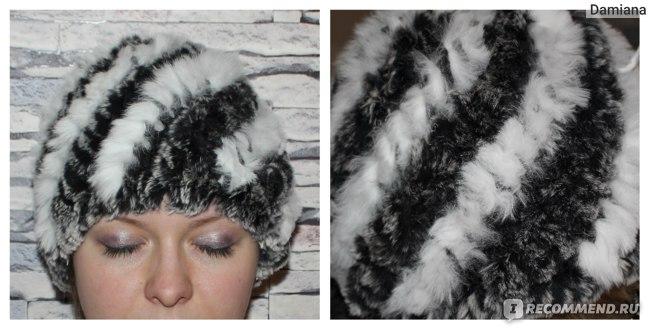 Шапка AliExpress Knitted Real REX rabbit fur hat cap headgear headdress head warmer 7colors фото