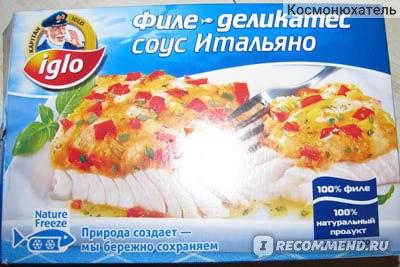 Филе-деликатес KAPITAN IGLO соус Итальяно фото