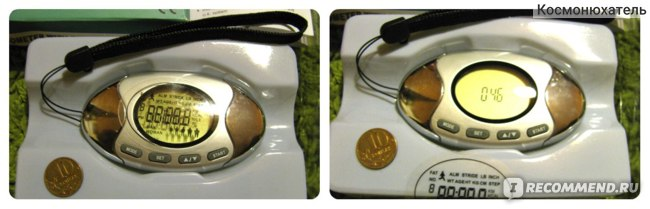 Шагомер Buyincoins с функцией анализатора жира и подсчета калорий (2in1 Pedometer with Body Fat Analyzer Calorie Counter) фото
