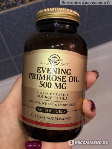 БАД Solgar Evening Primrose Oil 500 мг - Масло примулы вечерней фото