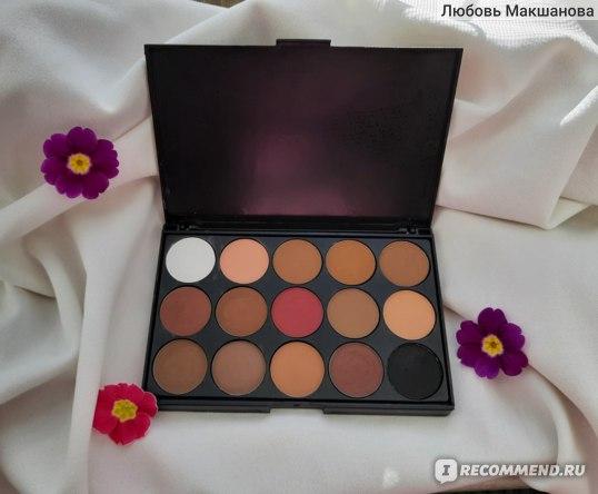 Тени для век Aliexpress New fashion 15 Earth Color Matte Pigment Eyeshadow Palette Cosmetic Makeup Eye Shadow for women free shipping фото