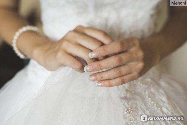 свадебный маникюр (наращивание)
