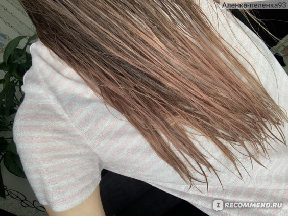 Мокрые волосы с кремом