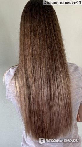 Волосы высушены феном