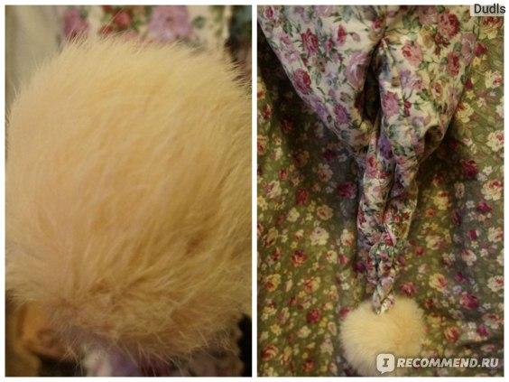 Пальто AliExpress Women's Lolita Style Rabbit Fur Plaid Embroidery Bow Thickening Wadded Jacket Long Coat A09860 Tutti фото