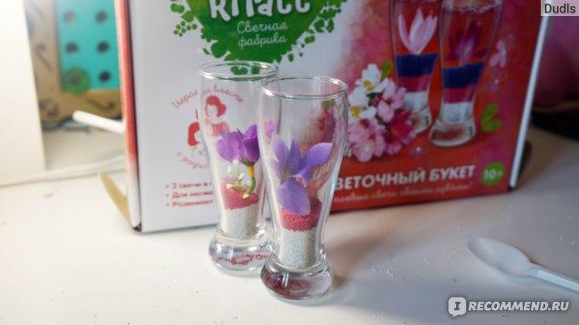Attivio Набор для творчества  Свечи гелевые Цветы 751 фото