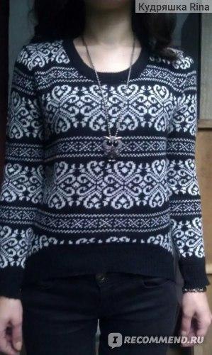 Свитер AliExpress East Knitting SW-014 long sleeve sweaters for women 2014 Vintage totem loose pullovers short knitwears top sale фото