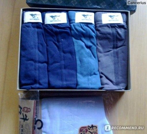 Трусы мужские Aliexpress  SEPTWOLVES male panties briefs 100% cotton comfortable sexy 100% cotton panties фото