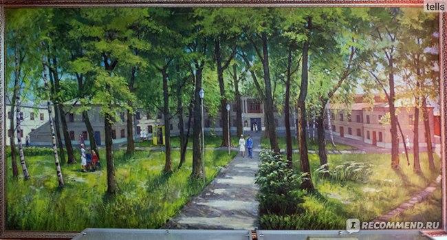 Очень красивая картина с видом больницы. Спасибо автору! (картина из музея больницы)