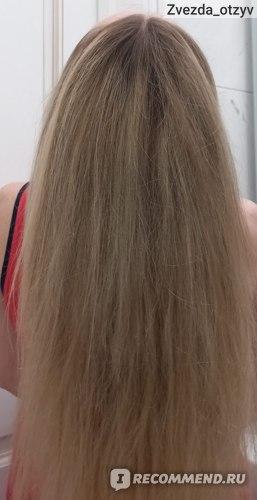Переход оттенка от корней волос до мелирования  и качество волос стало прежним. Как до окрашивания.