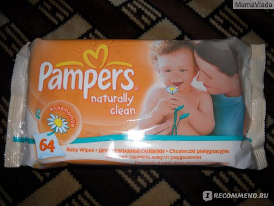 Влажные салфетки Pampers naturally clean фото