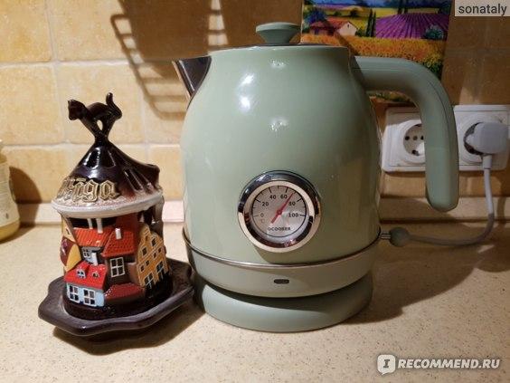 Электрический чайник Xiaomi  Qcooker Retro Electric Kettle с датчиком температуры фото