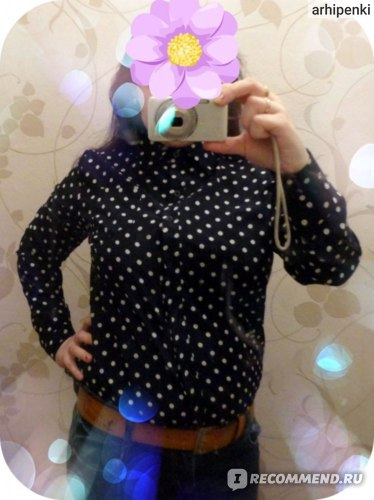 Блузка AliExpress WOMEN LADY VINTAGE POLKA DOT CHIFFON LONG SLEEVE LAPEL SHIRT фото