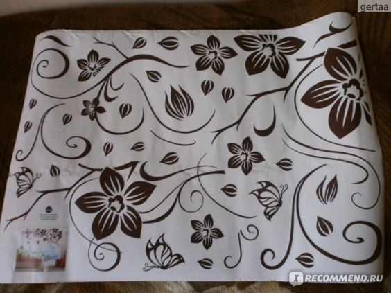 Декоративные наклейки Aliexpress Vine Flower Butterfly Removable PVC Wall Sticker Home Decor Decals Art фото