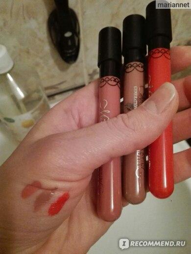 Жидкая губная помада Aliexpress Popular Women's lipgloss Waterproof Beauty Makeup LipStick Velvet matte Colors Lip Pencil Lipstick Lip Gloss Lip 11 Colors Матовая помада с алиэкспресс фото