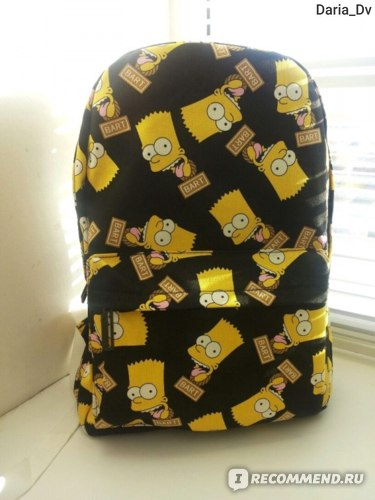 Рюкзак Aliexpress Hot Fashion Bart Simpson men's women printing backpacks canvas students outdoor school shoulder book bags mochilas vintage brand фото