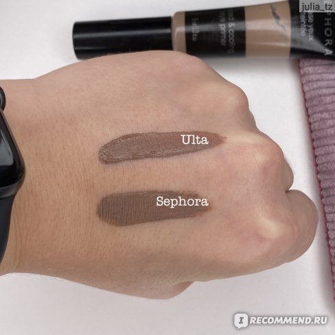 Сравнение оттенков теней от Ulta и Sephora
