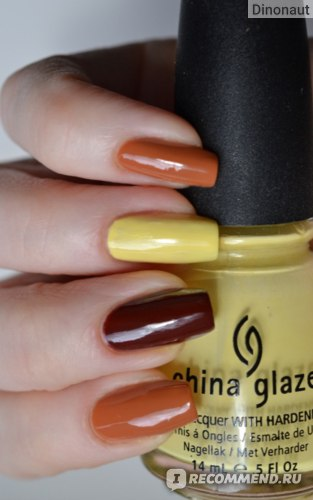 China Glaze Desert Sun + Brownstone + Lemon Fizz