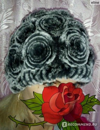 Шапка AliExpress rex rabbit hat Genuine Women's Winter Rex rabbit Fur фото