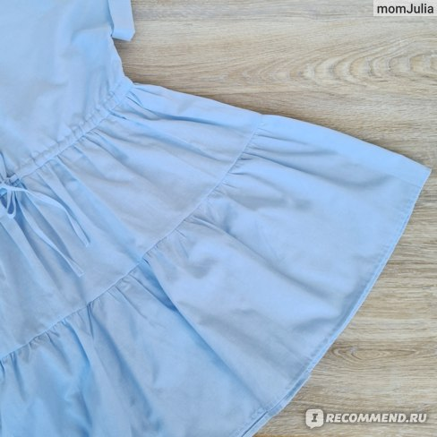 Небесно-голубое ярусное платье Zara