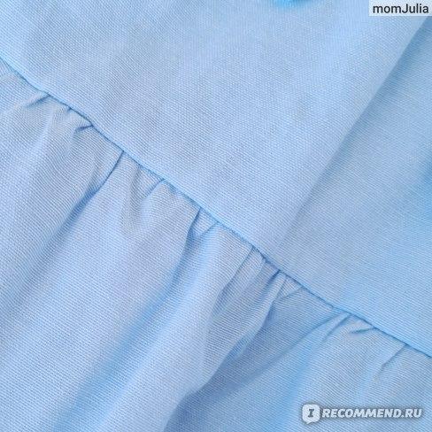 Небесно-голубое ярусное платье Зара отзывы фото