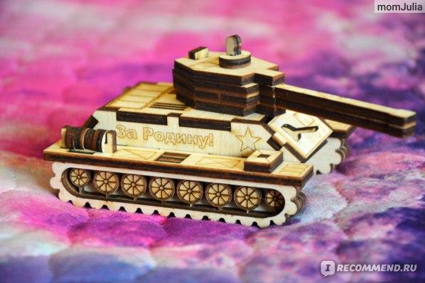 Танк Т34 сборка модели из дерева